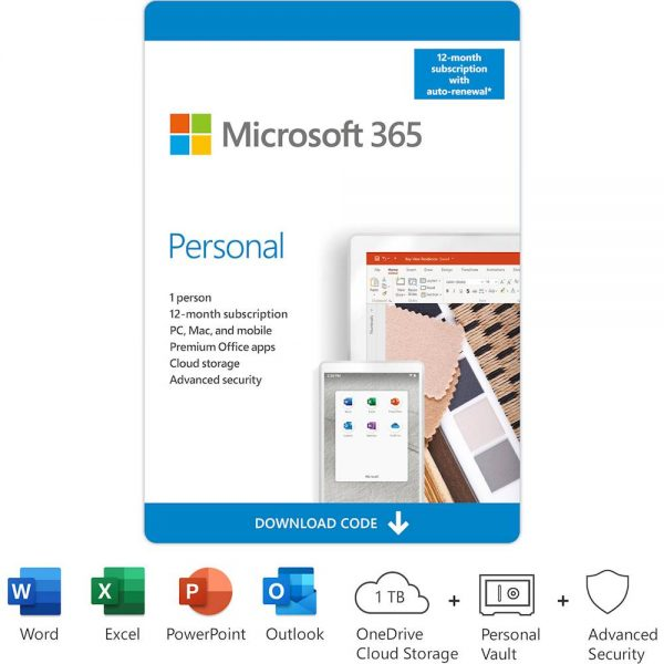 Microsoft 365 Personal (1 User) (12 Month Subscription) - [Digital]