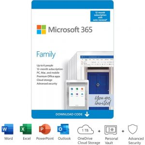 Microsoft 365 Family (Up to 6 Users) (12-Month Subscription) - [Digital]