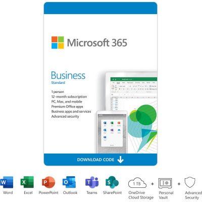 Microsoft 365 Business Standard (1 User) (12-Month Subscription) - [Digital]