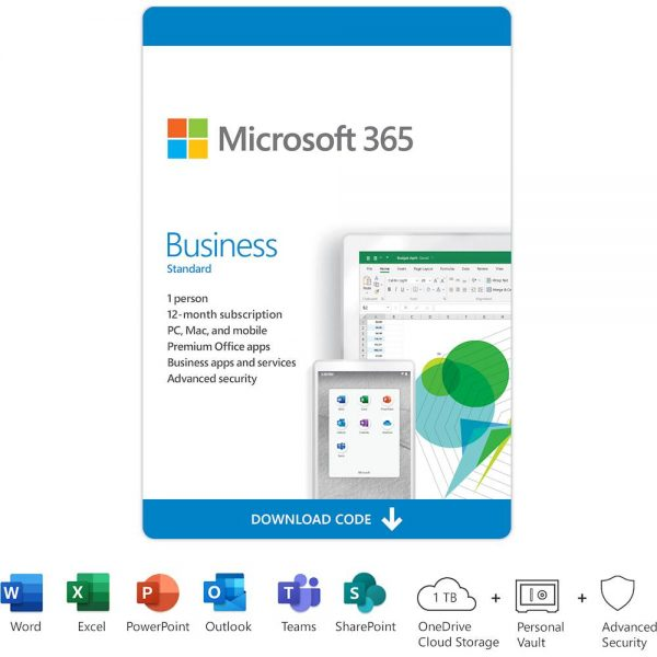 Microsoft 365 Business Standard (1 User) (12-Month Subscription) - [Digital]