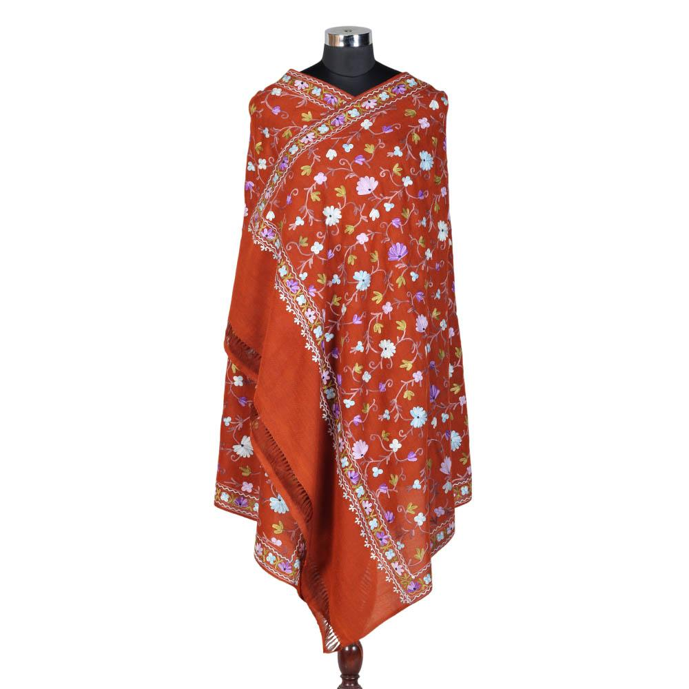 Pure Woolen Orange Shawl